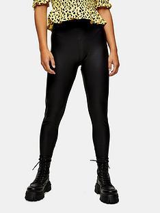 topshop-petite-leather-look-leggings-black