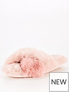 v-by-very-annie-plush-faux-furnbspcrossover-slider-slipper-pink