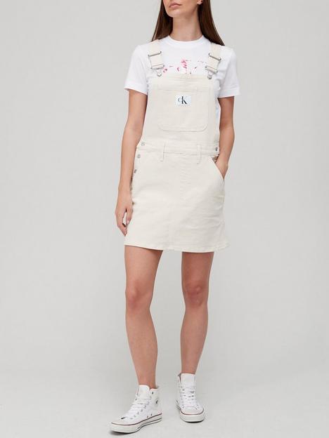 calvin-klein-jeans-organic-cotton-dungaree-dress-cream