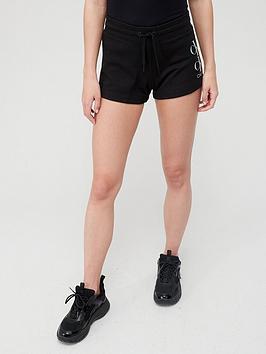 calvin-klein-jeans-shine-logo-knit-short-black