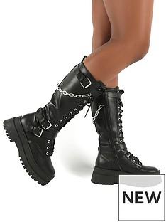 public-desire-amari-calf-boot-black
