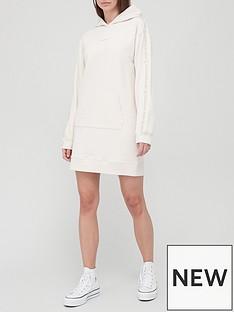 calvin-klein-jeans-logo-trim-hoodie-dress-white