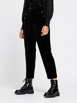 river-island-velvet-peg-leg-trouser-black