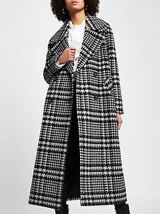 river-island-double-breasted-oversized-dogstooth-coat-black