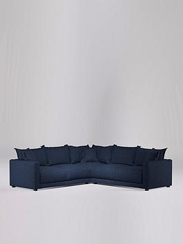 Swoon Aurora Fabric 5 Seater Corner Sofa - Soft Wool