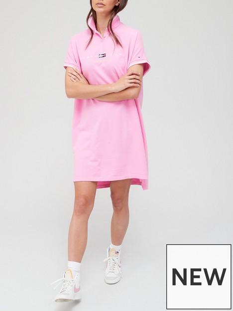tommy-jeans-modern-logo-polo-dress-pink