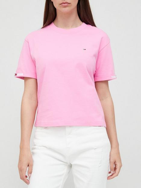 tommy-jeans-crop-branded-t-shirt-pink