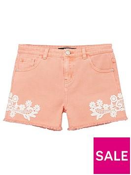 v-by-very-girls-crochet-trim-denim-short-pink