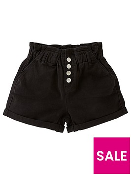 v-by-very-girlsnbsppaperbag-shorts-black