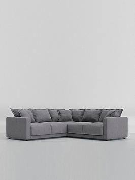Swoon Aurora Fabric 5 Seater Corner Sofa - Smart Wool