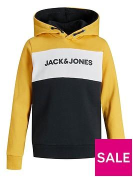 jack-jones-junior-boys-essential-colour-block-hoody-yolk-yellow