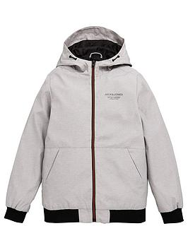 jack-jones-junior-boys-essential-hooded-jacket-light-grey-marl