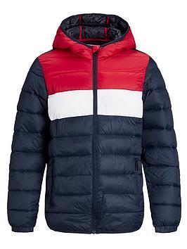 jack-jones-junior-boys-essential-colour-block-hooded-padded-jacket-navy-blazertango-red