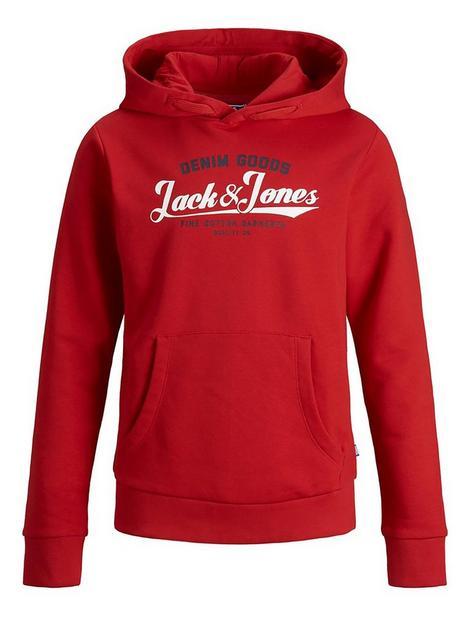 jack-jones-junior-boys-essential-hoodienbsp--true-red