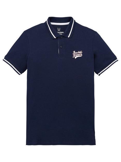 jack-jones-junior-boys-essential-short-sleeve-polo-navy-blazer