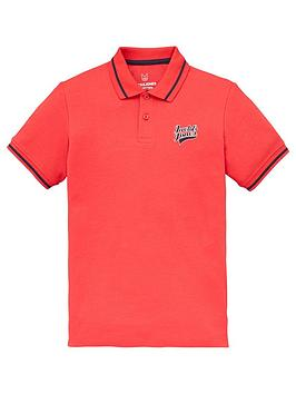 Jack & Jones Junior Boys Essential Short Sleeve Polo - True Red, Red, Size 10 Years