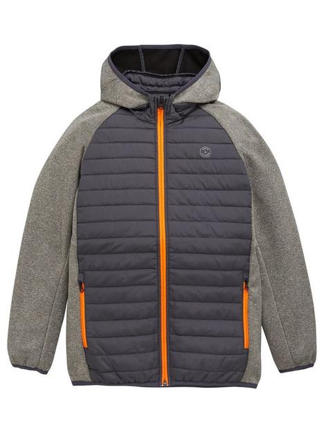 jack-jones-junior-boys-essential-jersey-sleeve-padded-jacket-grey-melange