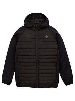 jack-jones-junior-boys-essential-jersey-sleeve-padded-jacket-black