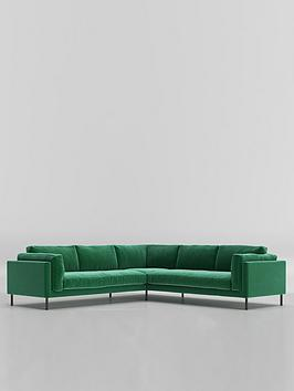 Swoon Munich Fabric 5 Seater Corner Sofa - Smart Wool
