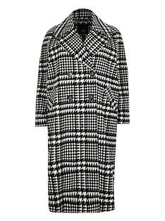 ri-plus-double-breasted-dogstooth-coat-black