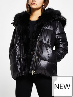 ri-petite-faux-fur-trim-chubby-paddednbspjacket-black