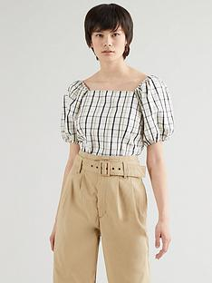 levis-vera-short-sleevenbspblouse-plaid