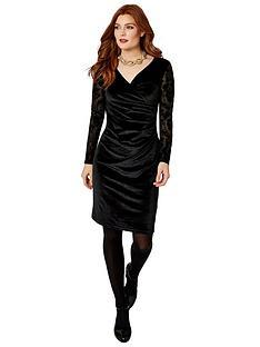joe-browns-flirty-velvet-dress-black