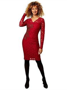 joe-browns-glamorous-lace-dress-burgundy