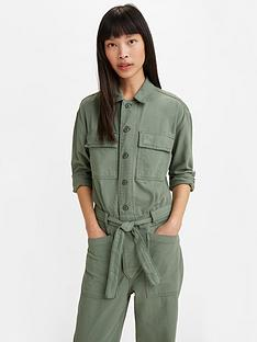 levis-utility-button-down-jumpsuit-green