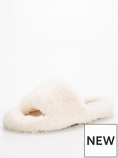 v-by-very-vita-faux-fur-slider-slipper-cream