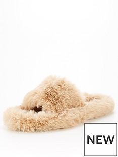 v-by-very-vita-faux-fur-slider-slipper-mink