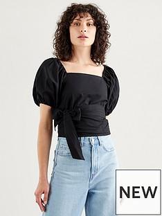 levis-vera-short-sleevenbspblouse-black