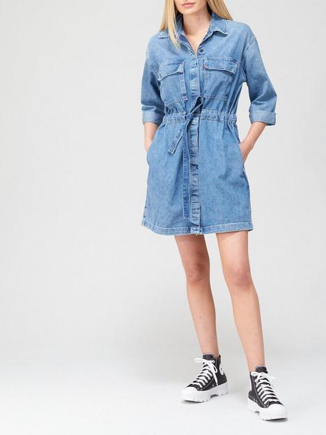 levis-ainsley-utility-denim-dress-blue