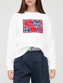 tommy-hilfiger-floral-box-logo-crew-sweat-white
