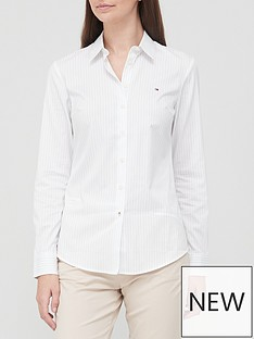 tommy-hilfiger-core-chest-logo-long-sleeved-shirt-white