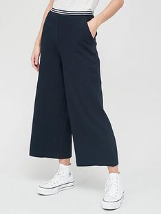 tommy-hilfiger-textured-wide-leg-trousers-navy