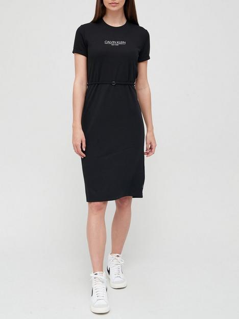calvin-klein-new-york-logo-waisted-jersey-dress-black