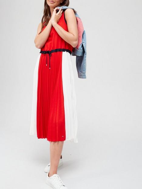 tommy-hilfiger-pleated-midi-dress-multi