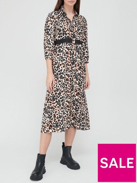 calvin-klein-leopard-midi-shirt-dress-multi