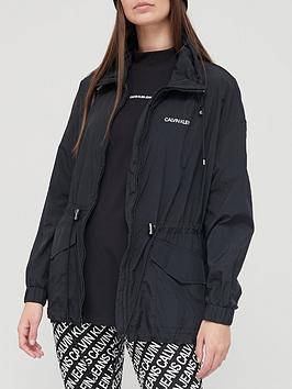 Calvin Klein Nylon Packable Jacket - Black, Black, Size Xs, Women