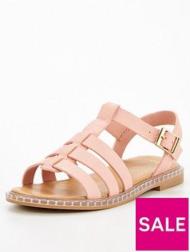 v-by-very-girls-gladiator-sandal-blush