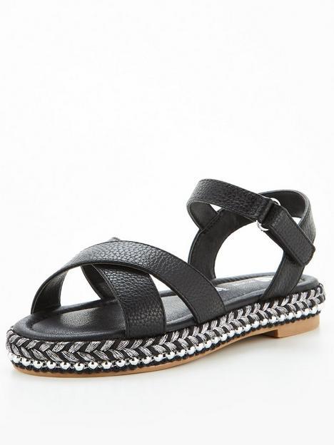 v-by-very-girls-stud-trim-sandal-black