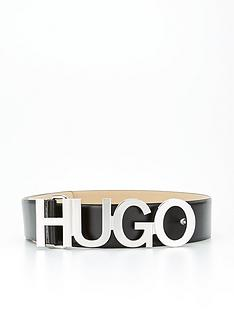 hugo-zula-logo-leather-belt-black