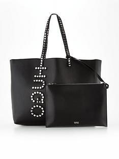 hugo-studded-chelsea-shopper-black