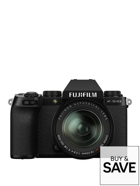 fujifilm-fujifilm-x-s10-mirrorless-digital-camera-with-xf18-55mmf28-4-r-lm-ois-lens-black