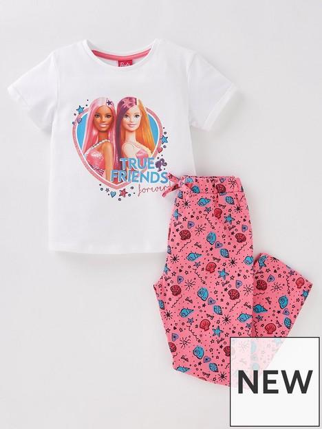 barbie-girls-barbie-true-friends-short-sleeve-pyjamas-multi