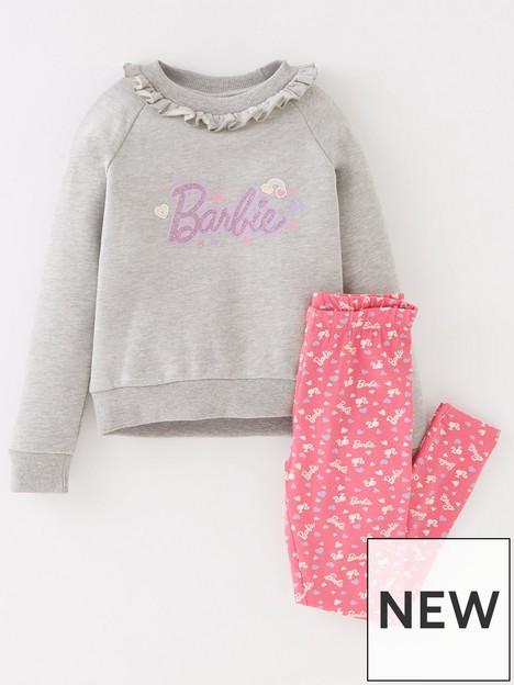 barbie-girls-barbie-2-piece-frill-sweat-and-legging-set-greypink