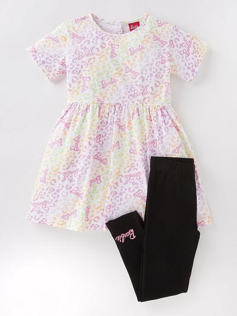 barbie-girls-barbie-2-piece-animal-print-skater-dress-and-legging-set-multi
