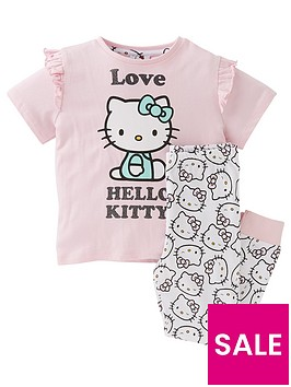 hello-kitty-girlsnbsplove-short-sleeve-pyjamas-pink