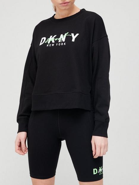 dkny-sport-graphic-script-logo-sweatshirt-black